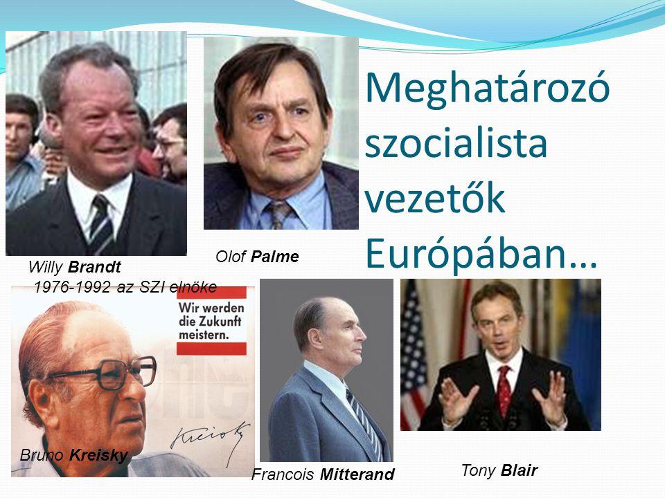 Meghatározó szocialista vezetők Európában…