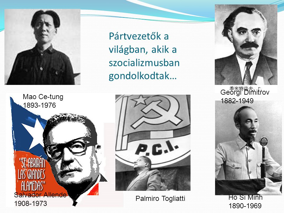Pártvezetők a világban, akik a szocializmusban gondolkodtak…
