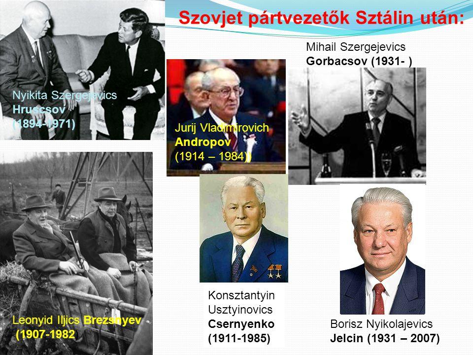 Szovjet pártvezetők Sztálin után: