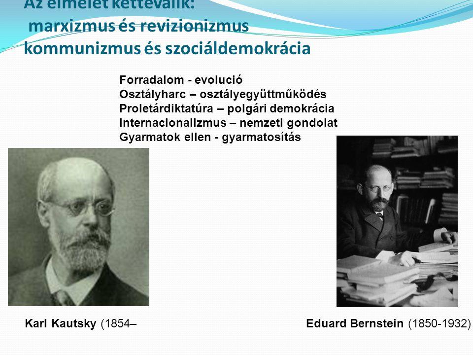 Az elmélet kettéválik: marxizmus és revizionizmus kommunizmus és szociáldemokrácia