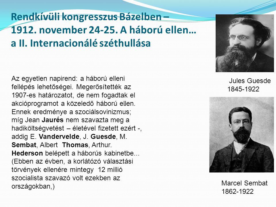 Rendkívüli kongresszus Bázelben – 1912. november 24-25