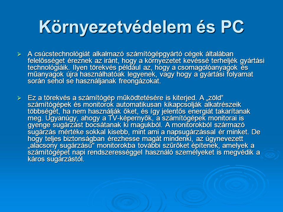 Környezetvédelem és PC