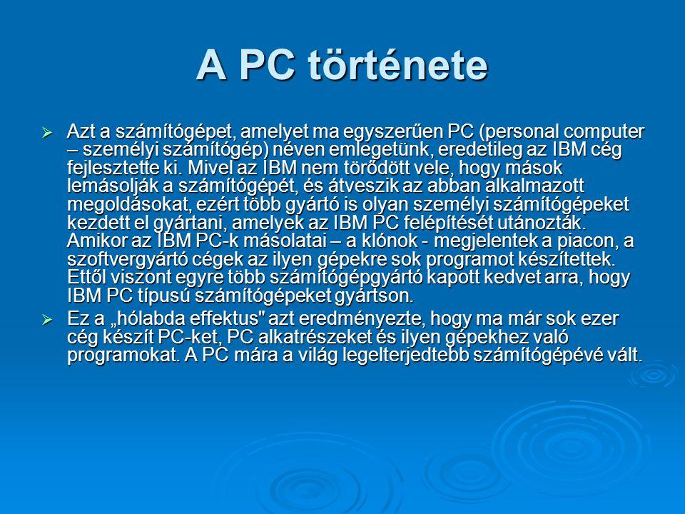 A PC története