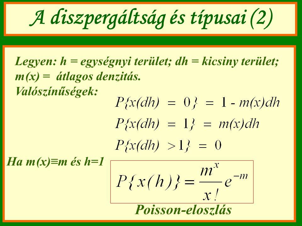 A diszpergáltság és típusai (2)