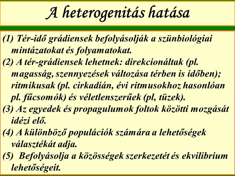 A heterogenitás hatása
