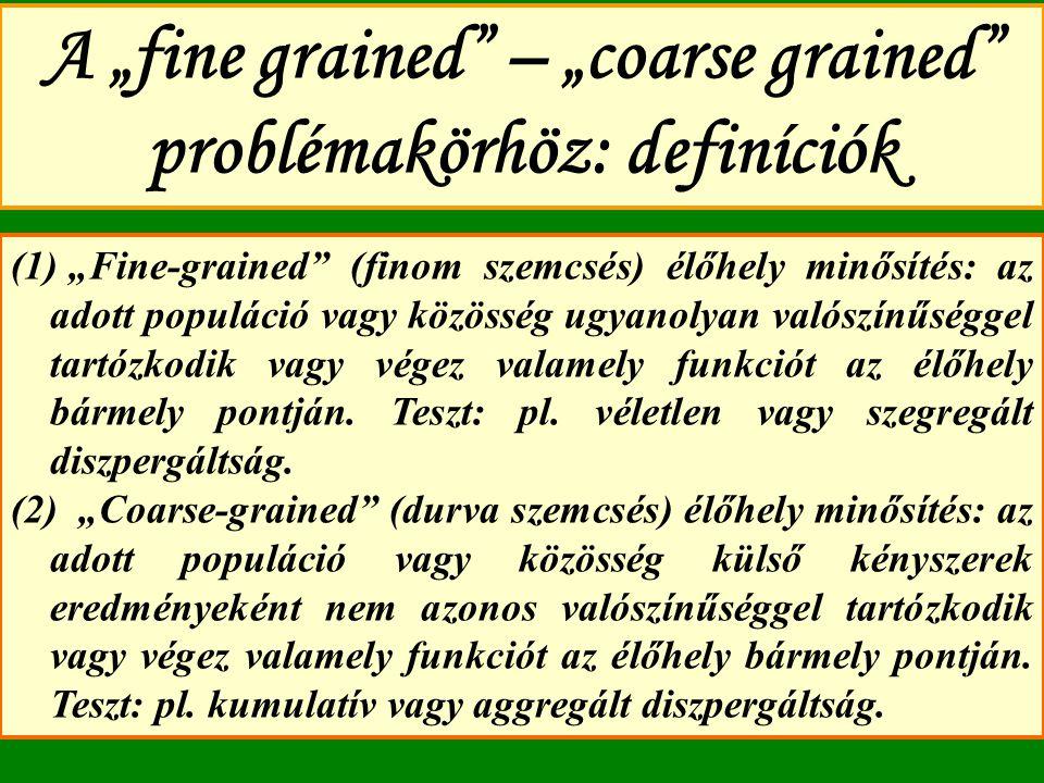 "A ""fine grained – ""coarse grained problémakörhöz: definíciók"