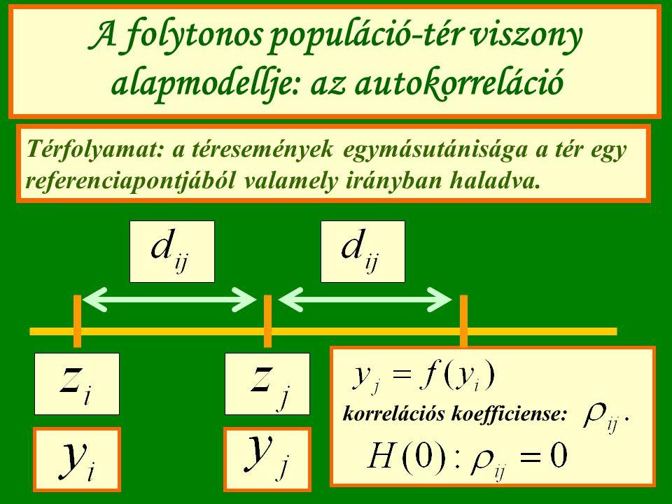 A folytonos populáció-tér viszony alapmodellje: az autokorreláció