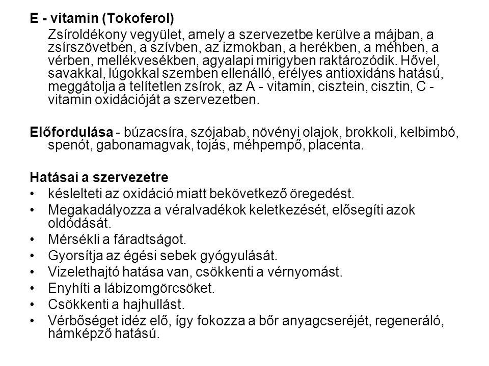 E - vitamin (Tokoferol)