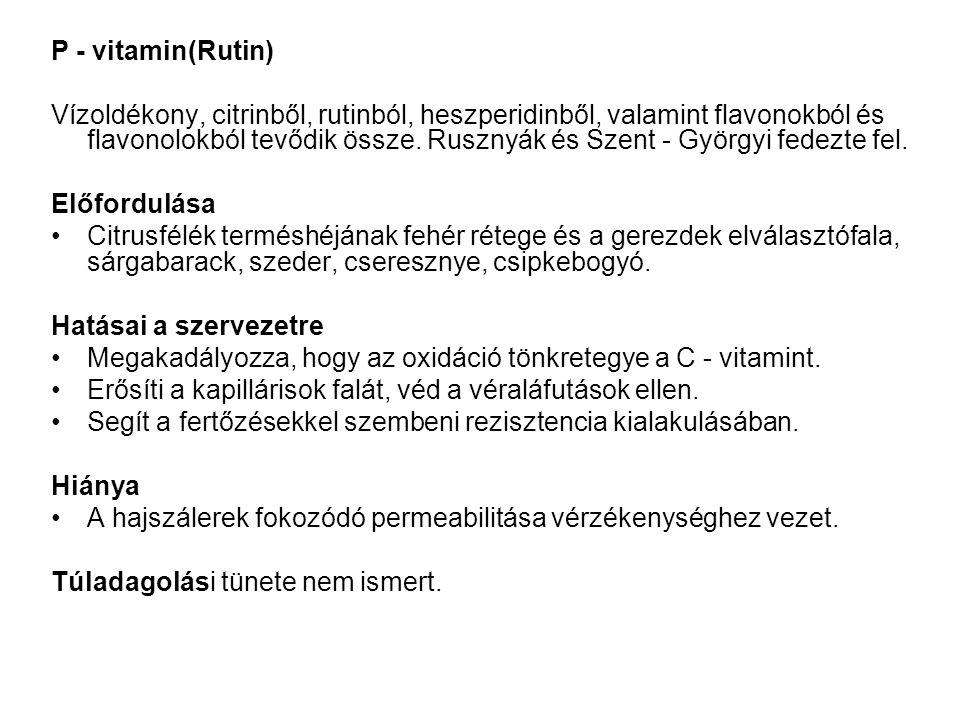 P - vitamin(Rutin)
