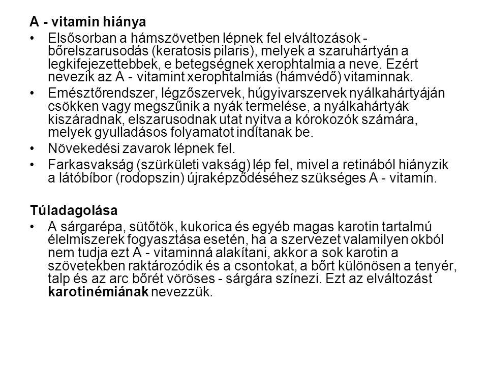A - vitamin hiánya