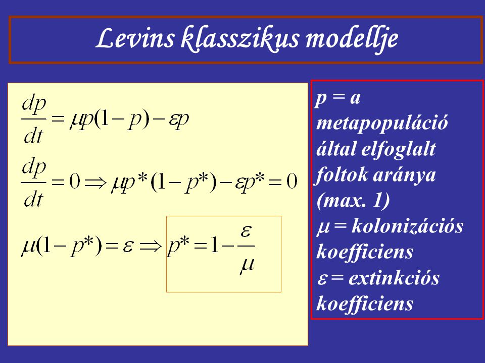 Levins klasszikus modellje