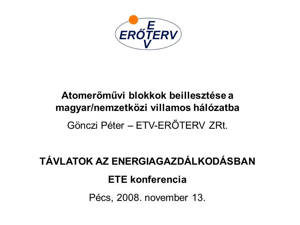 TÁVLATOK AZ ENERGIAGAZDÁLKODÁSBAN