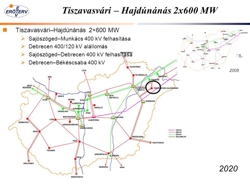 Tiszavasvári – Hajdúnánás 2x600 MW