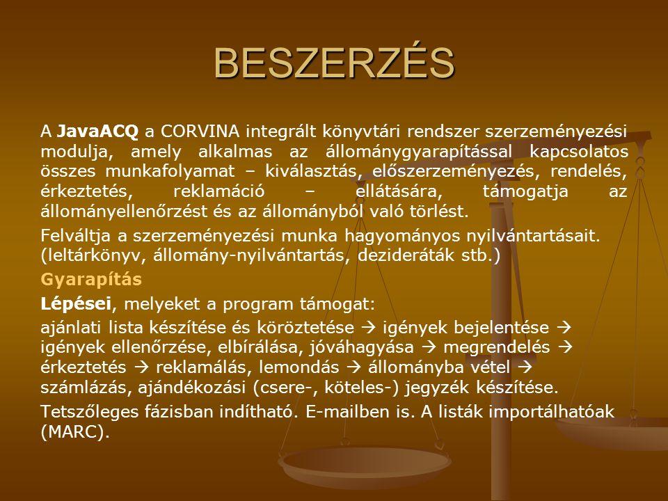 BESZERZÉS