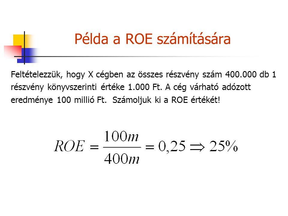 Példa a ROE számítására
