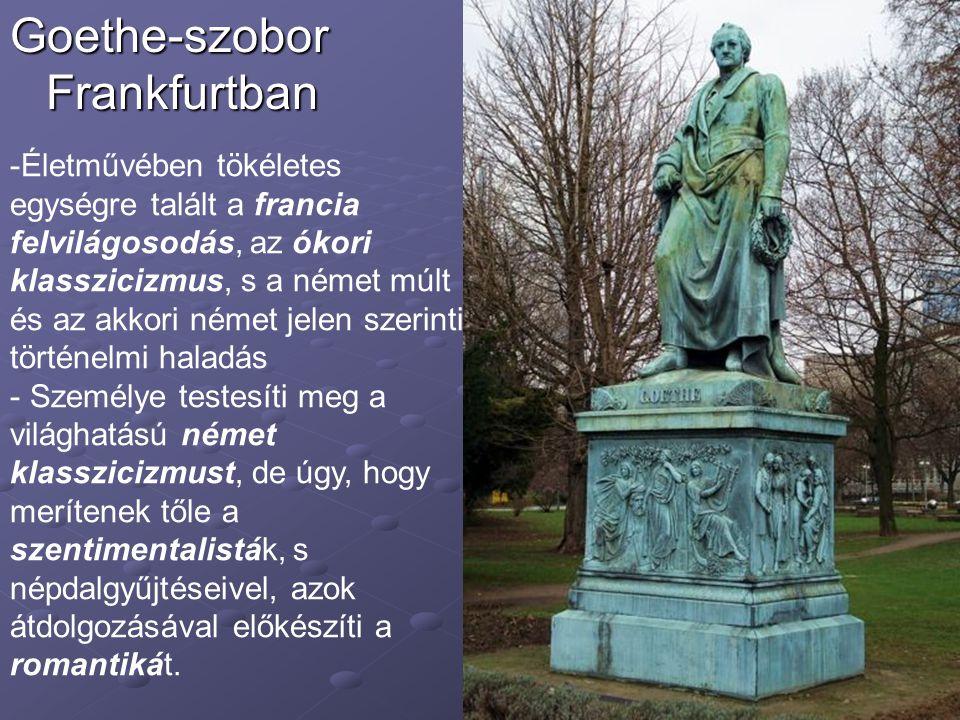 Goethe-szobor Frankfurtban