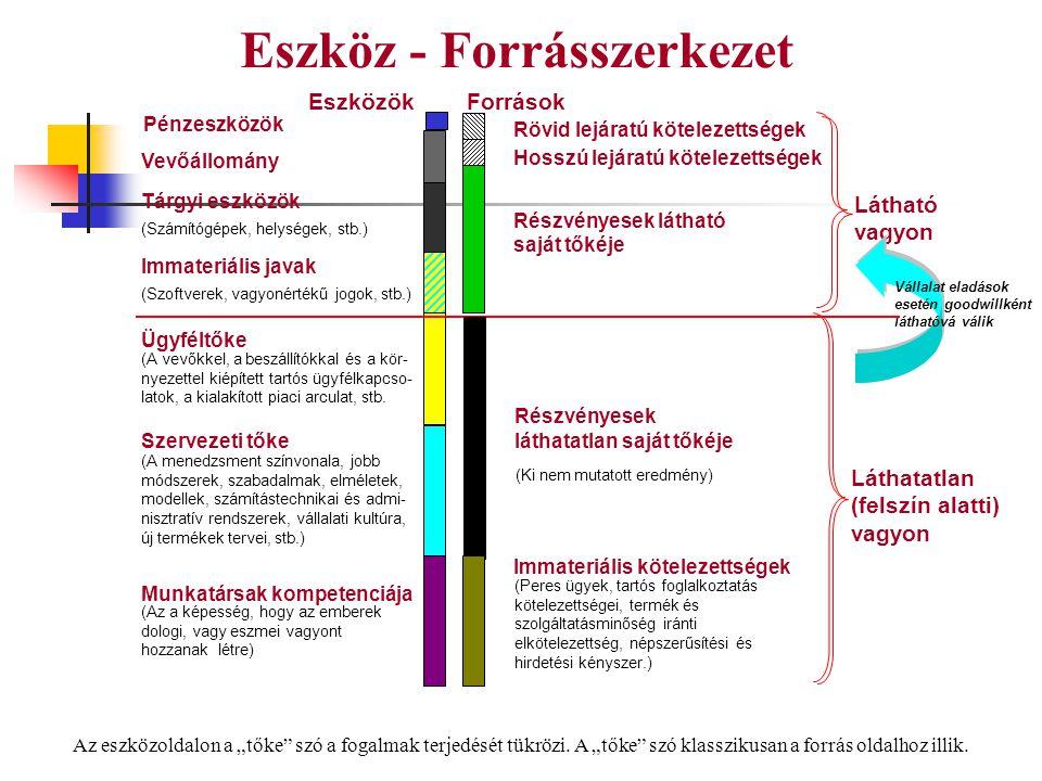 Eszköz - Forrásszerkezet