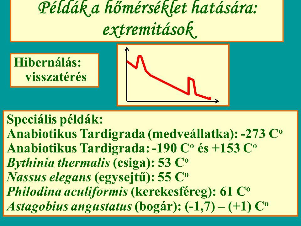 Példák a hőmérséklet hatására: extremitások