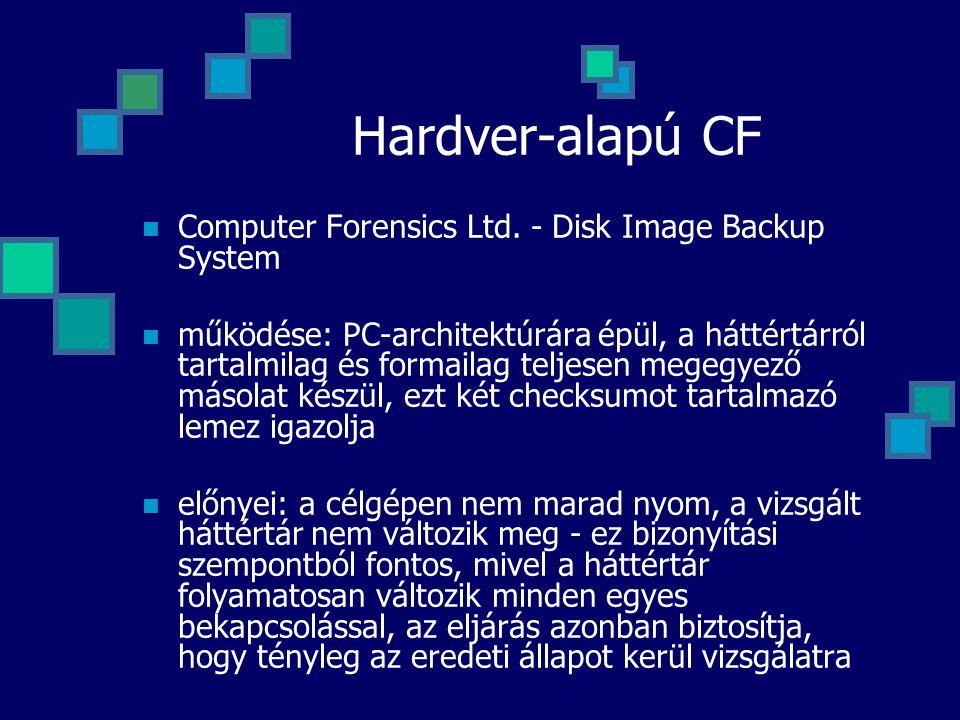 Hardver-alapú CF Computer Forensics Ltd. - Disk Image Backup System