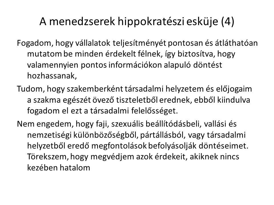 A menedzserek hippokratészi esküje (4)
