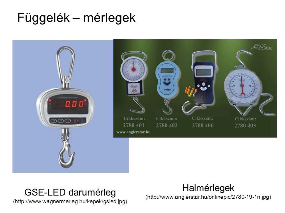 Függelék – mérlegek Halmérlegek GSE-LED darumérleg