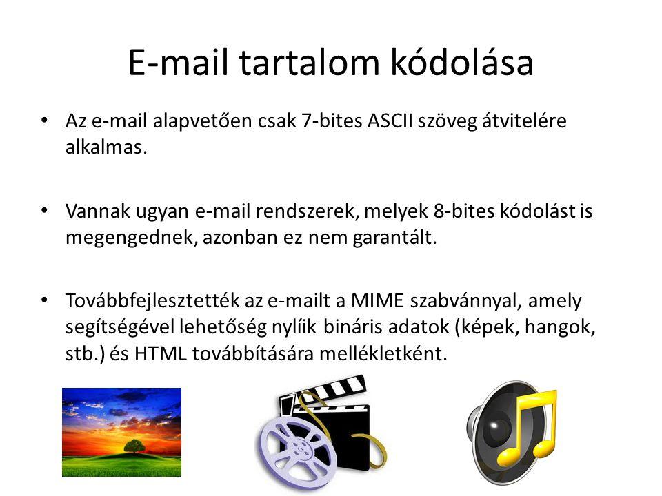 E-mail tartalom kódolása
