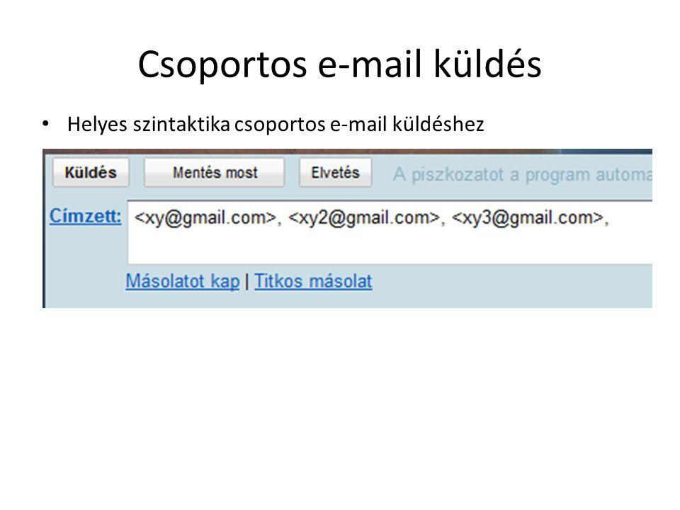 Csoportos e-mail küldés