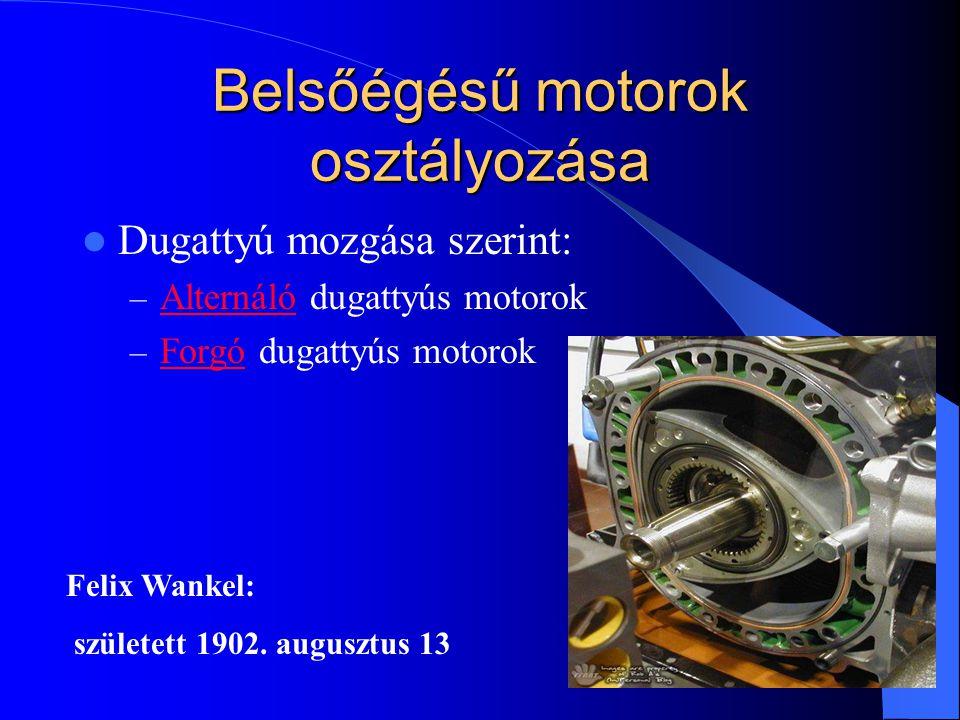 Belsőégésű motorok osztályozása
