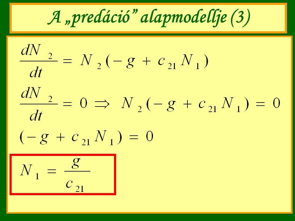 "A ""predáció alapmodellje (3)"