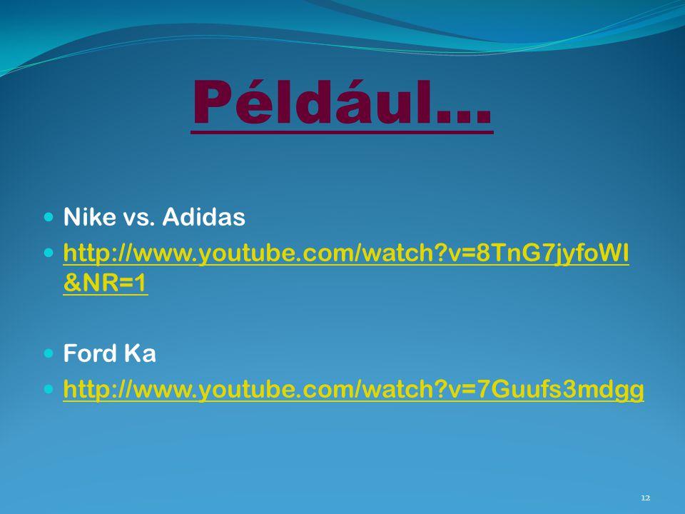 Például… Nike vs. Adidas