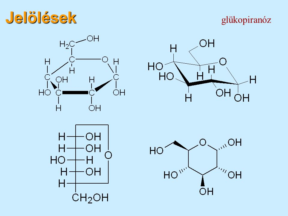 Jelölések glükopiranóz
