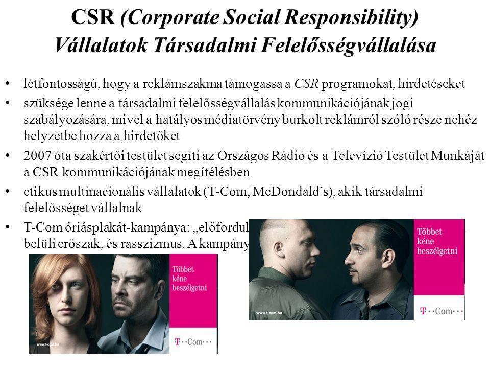 CSR (Corporate Social Responsibility) Vállalatok Társadalmi Felelősségvállalása