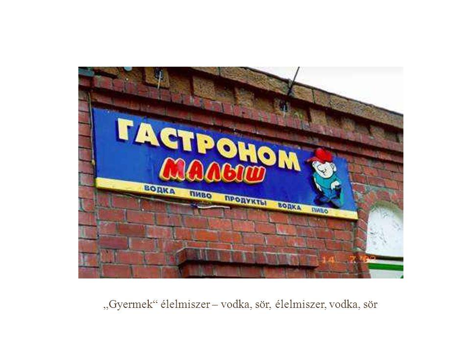 """""""Gyermek élelmiszer – vodka, sör, élelmiszer, vodka, sör"""