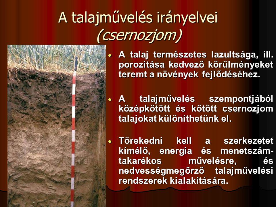A talajművelés irányelvei (csernozjom)