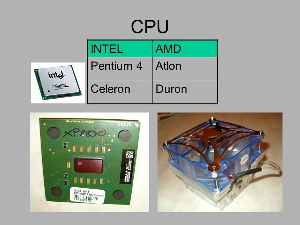 CPU INTEL AMD Pentium 4 Atlon Celeron Duron