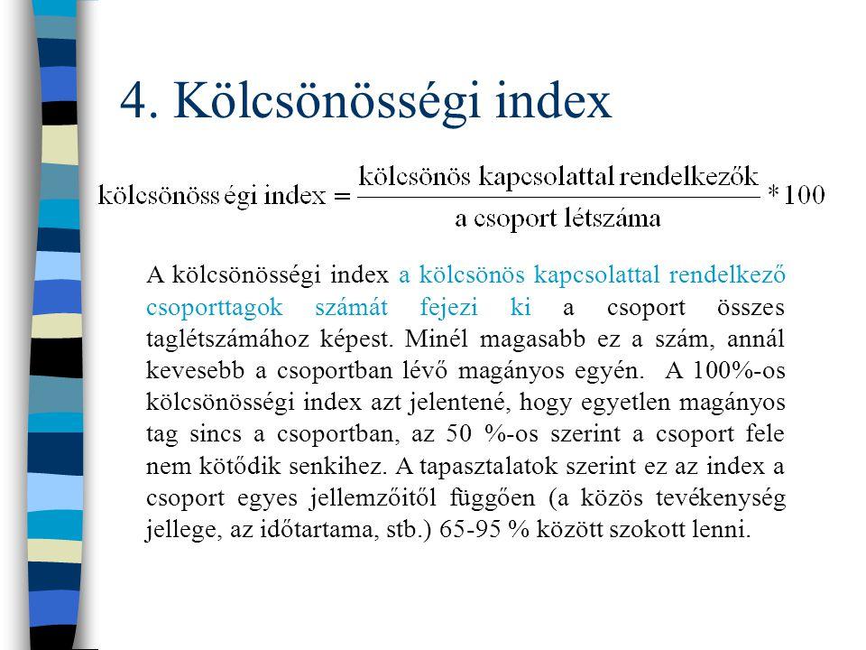 4. Kölcsönösségi index