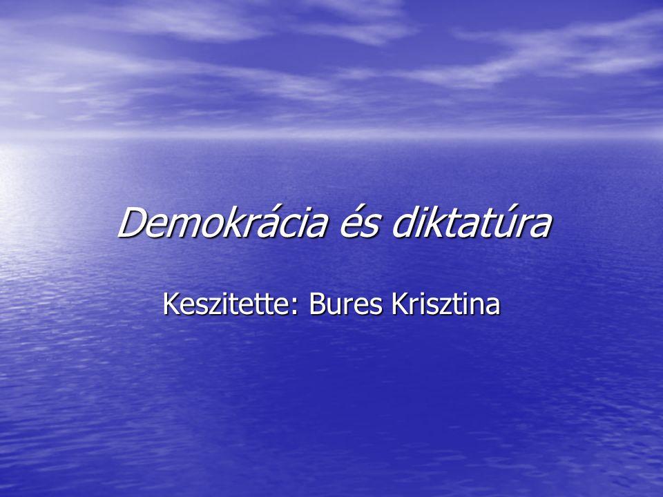 Demokrácia és diktatúra