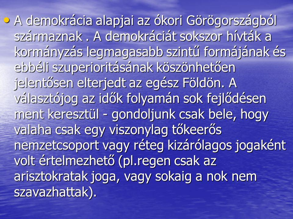 A demokrácia alapjai az ókori Görögországból származnak
