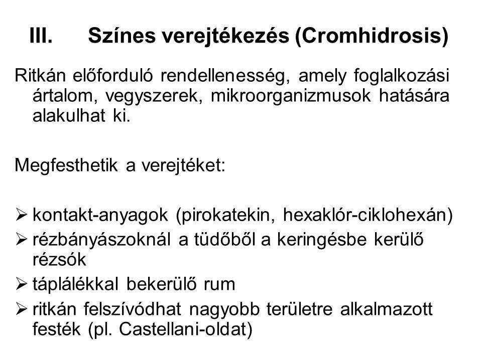 Színes verejtékezés (Cromhidrosis)