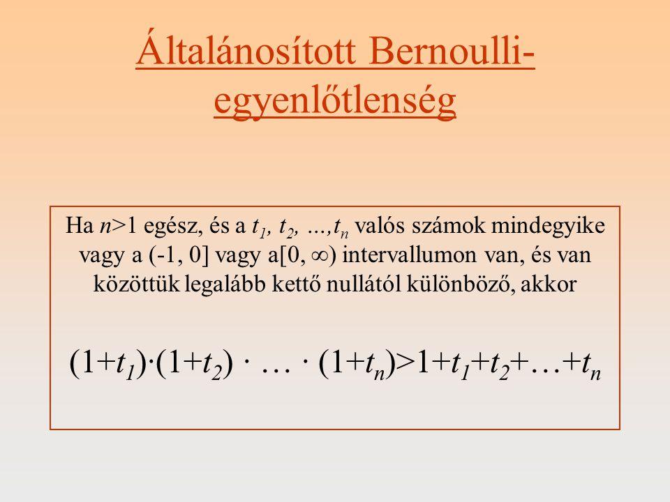 Általánosított Bernoulli-egyenlőtlenség