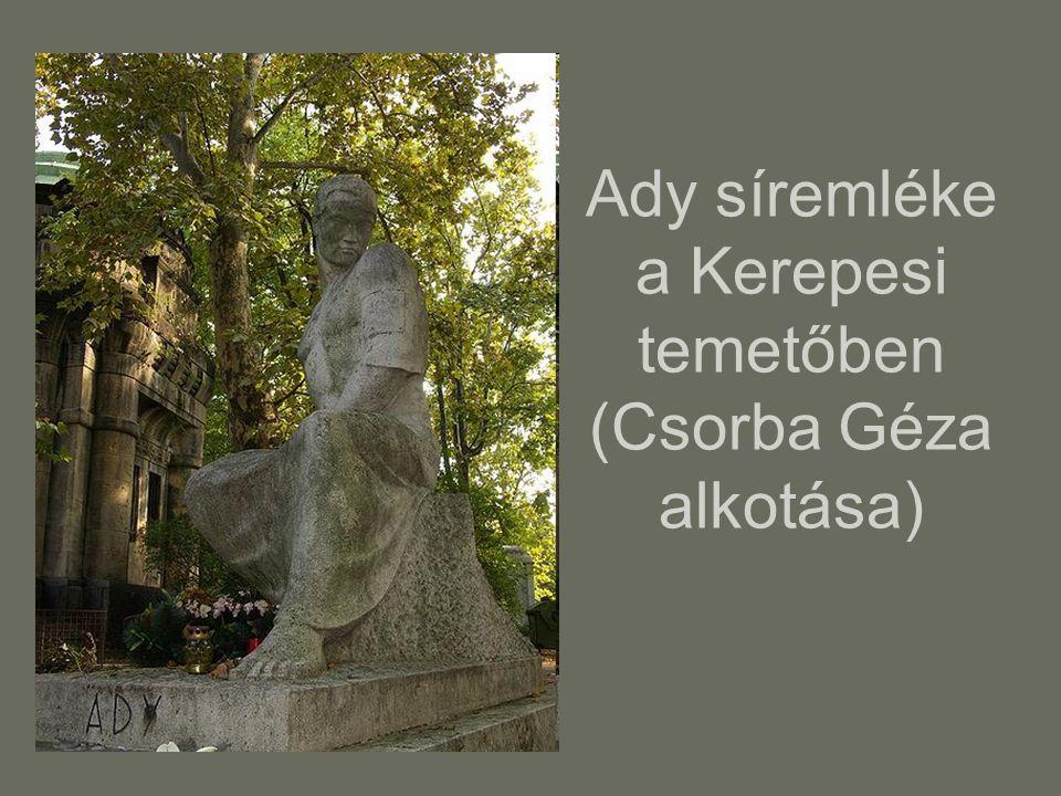 Ady síremléke a Kerepesi temetőben (Csorba Géza alkotása)