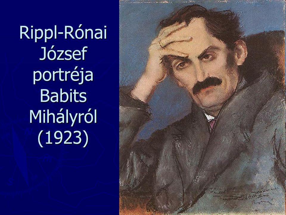 Rippl-Rónai József portréja Babits Mihályról (1923)