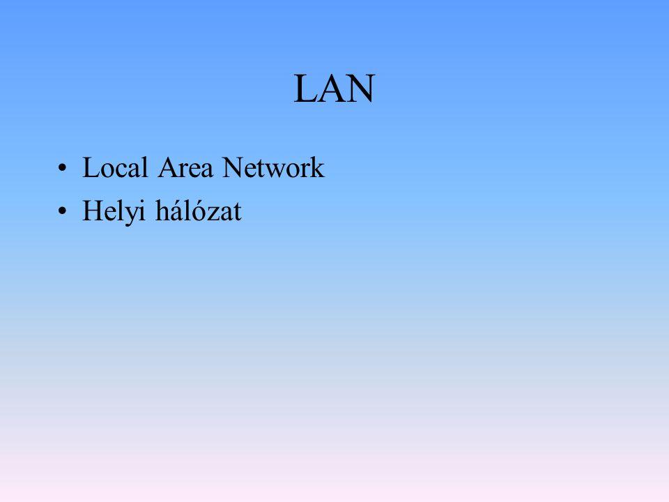 LAN Local Area Network Helyi hálózat