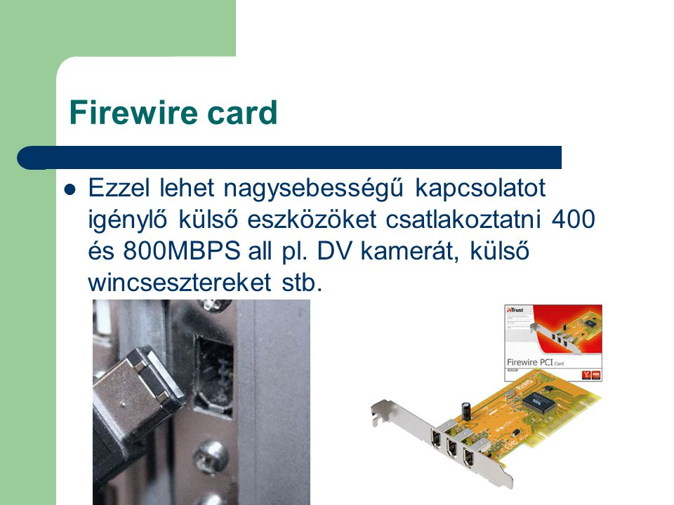 Firewire card