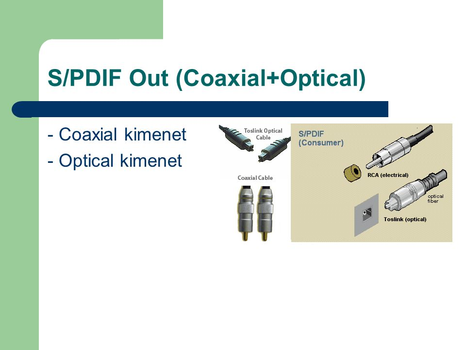 S/PDIF Out (Coaxial+Optical)