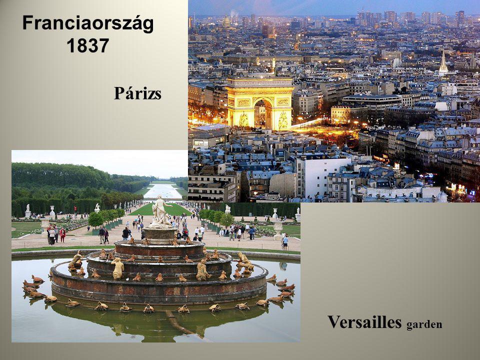 Franciaország 1837 Párizs Versailles garden