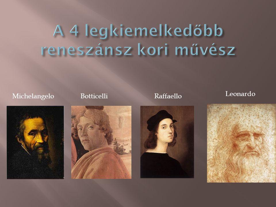 A 4 legkiemelkedőbb reneszánsz kori művész