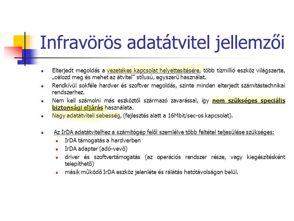 Infravörös adatátvitel jellemzői