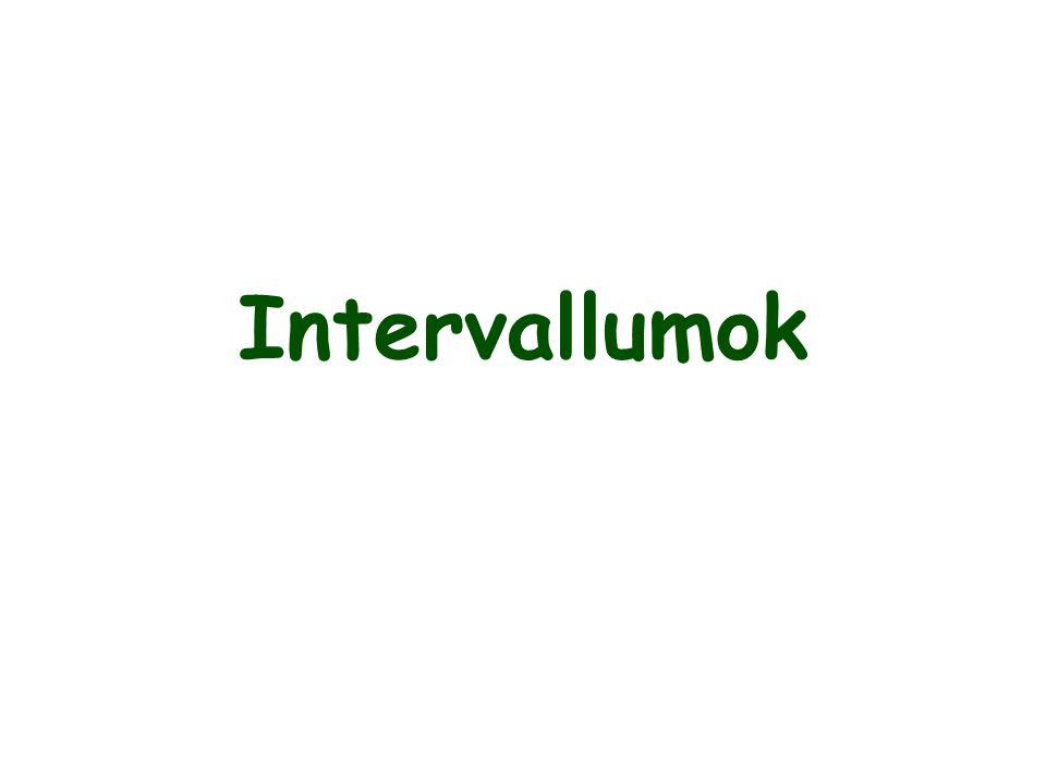 Intervallumok