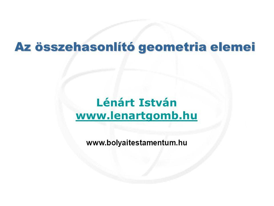 Az összehasonlító geometria elemei